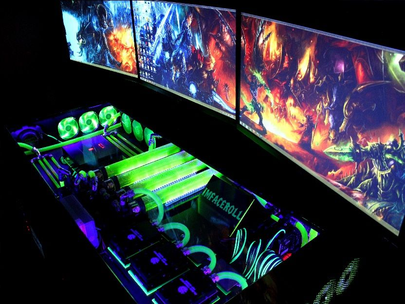 Explore Gaming Desk Computer Setup And More Case Water Cooling