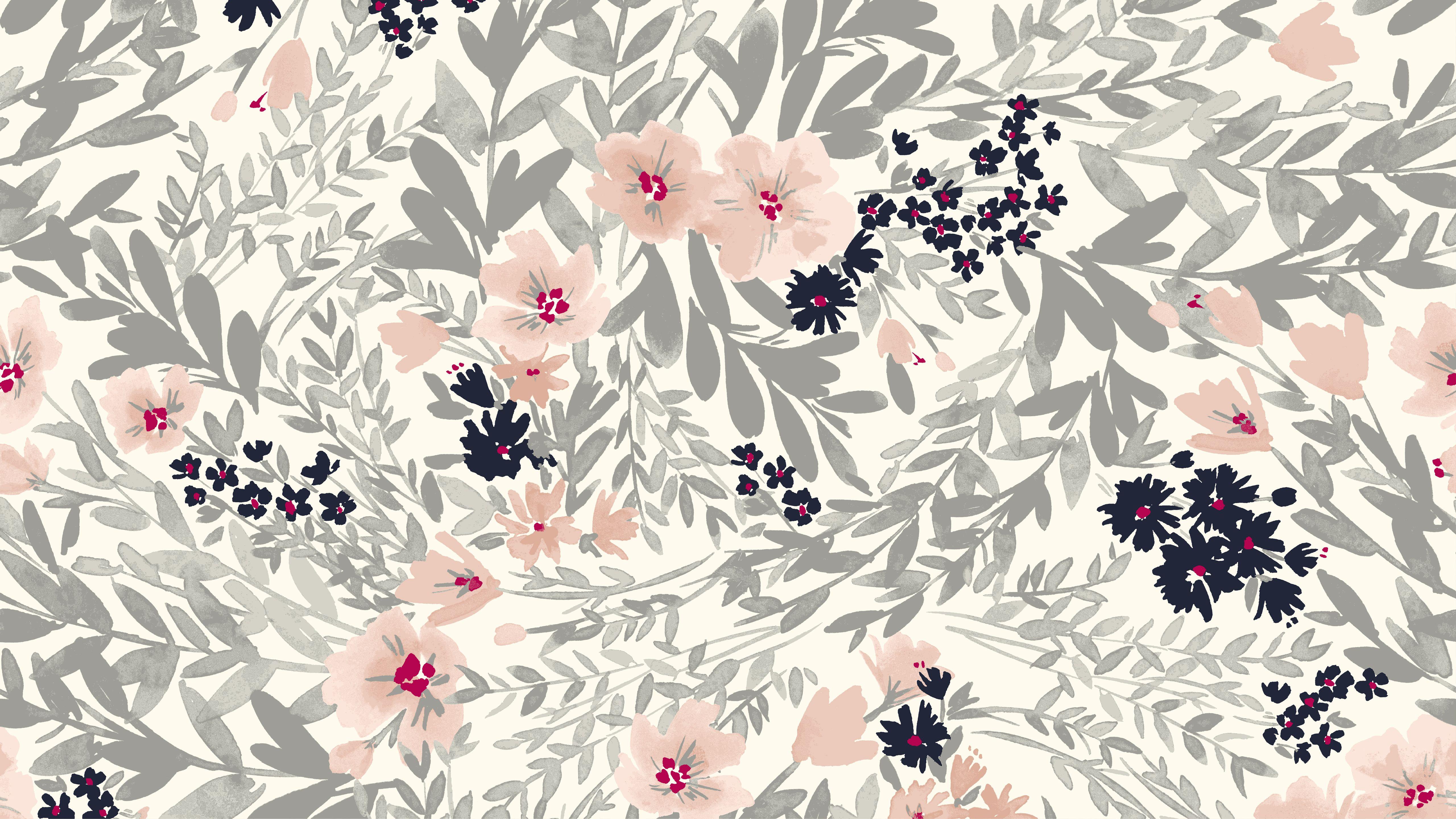 Get The Look Floral Wallpaper Desktop Kate Spade Desktop Wallpaper Computer Wallpaper Pattern