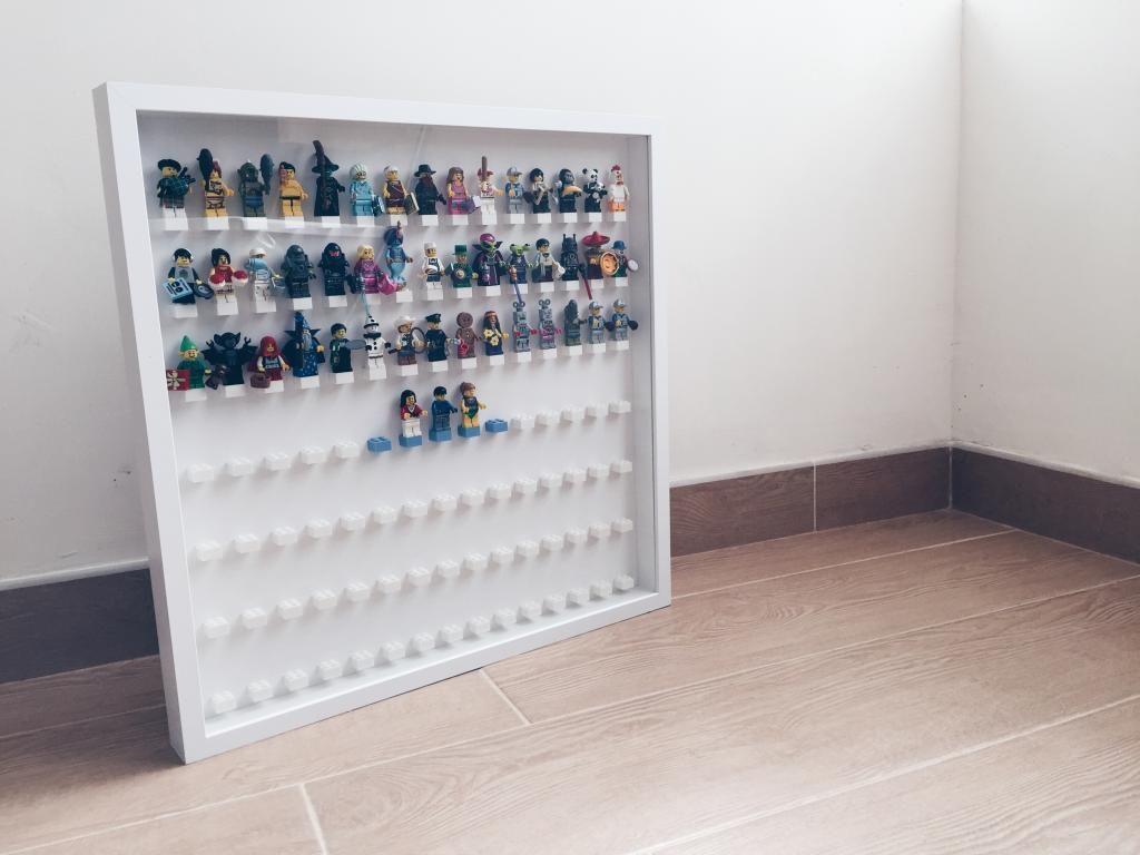 IKEA Lego Minifigure Display Frame -using RIBBA 50 x 50 and UHU glue ...