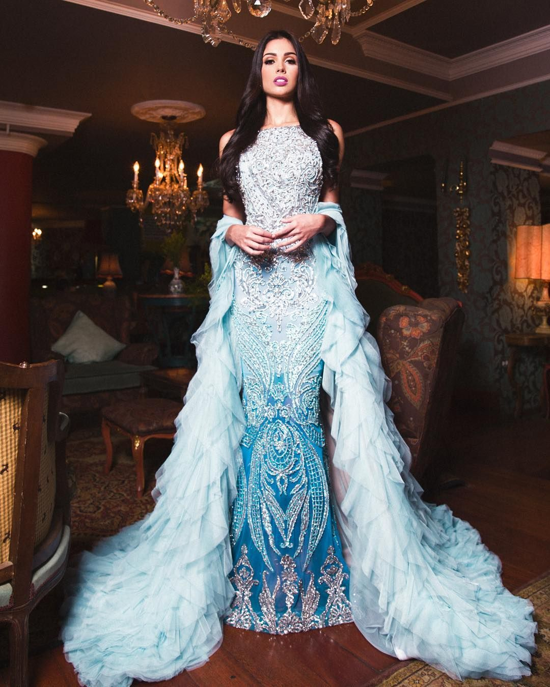 Stunning evening gown couture made by Alejandro Fajardo. Starring ...