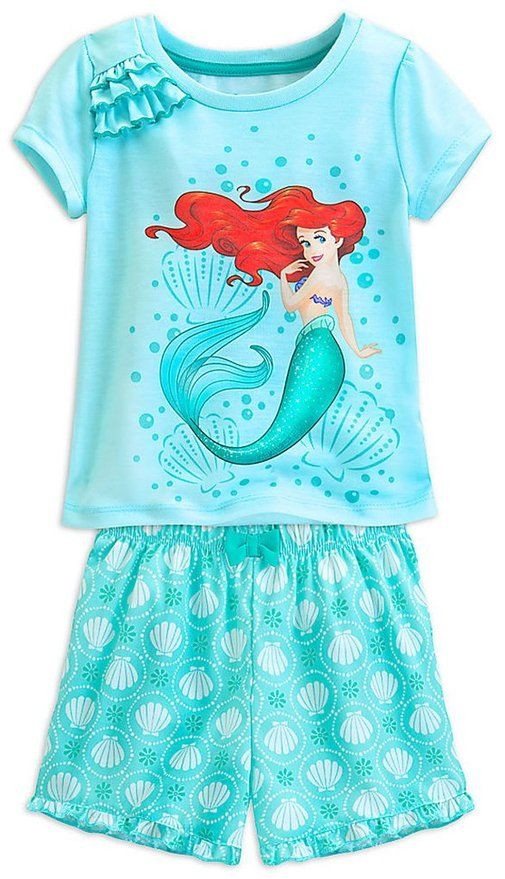 Disney Princess Ariel Toddler Girl Shirts and Skirt Set for Girls Short Sleeve Toddler Girl Shirt Skirts for Girls
