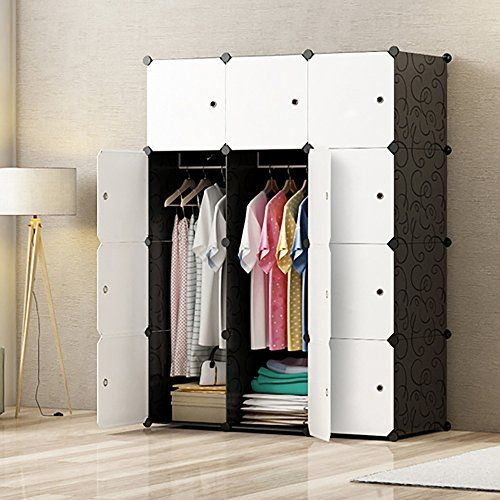 Discounted MEGAFUTURE Portable Wardrobe For Hanging Clothes, Combination  Armoire, Modular Cabinet For Space Saving