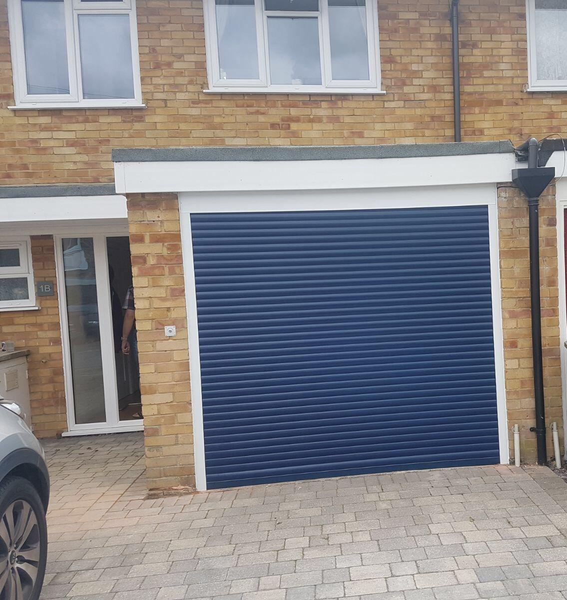 Blue Insulated Roller Garage Door In 2020 Garage Doors Garage