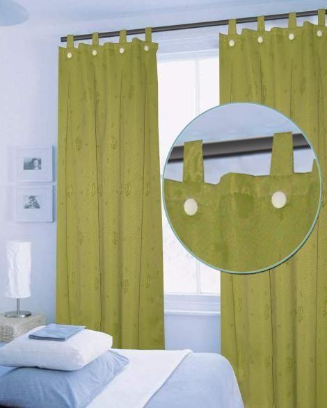 Cortinas verdes ideas para decorar el departamento for Cortinas para departamento
