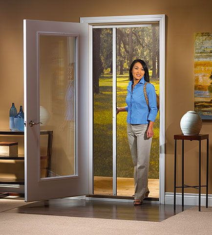 Odl retractable screen for single swinging doors git for Single swing patio door