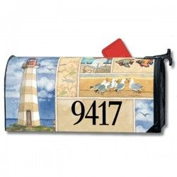 Addressables Magnetic Mailbox Cover Coastal Mailbox Covers
