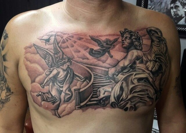 Stair Way To Heaven Tattoo Mister Placaso Tattoos For Guys Cool Tattoos For Guys Heaven Tattoos