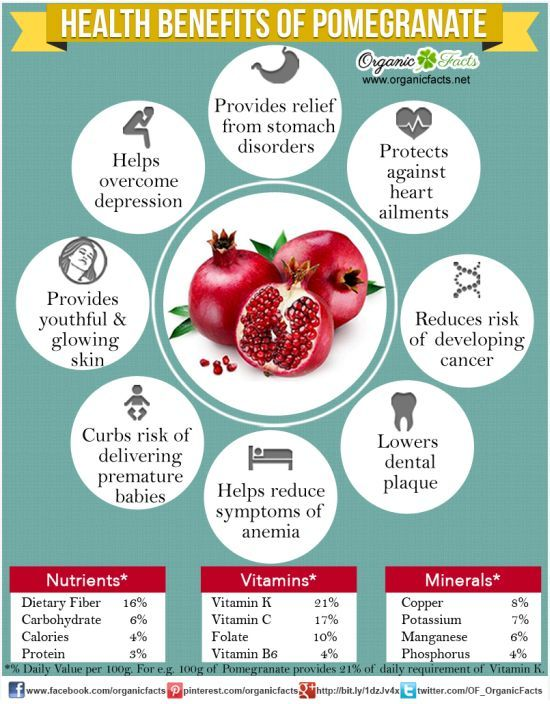 health benefits of pomegranate include being a cure for stomach
