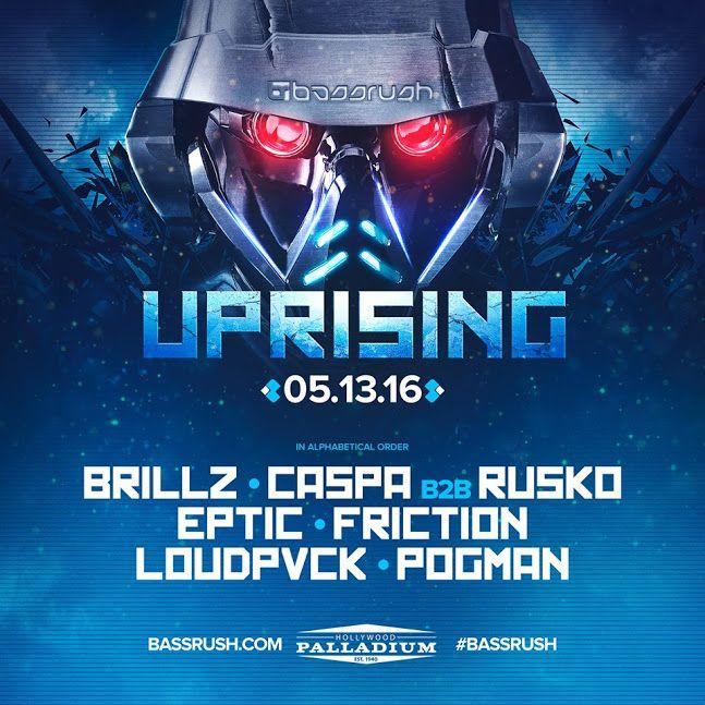 Bassrush Uprising: Caspa & Rusko Return To LA With A LOT Of Friends