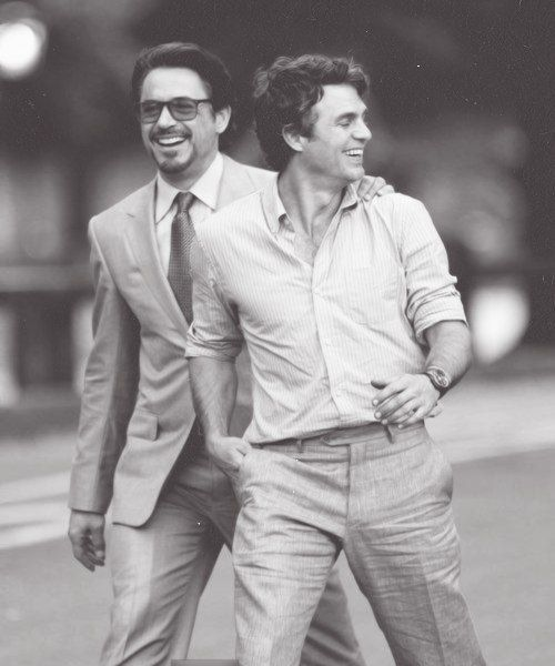 Robert Downey Jr. & Mark Ruffalo.