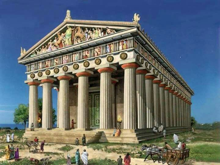 A Greek Temple in Agrigento reconstruction Ancient Greek