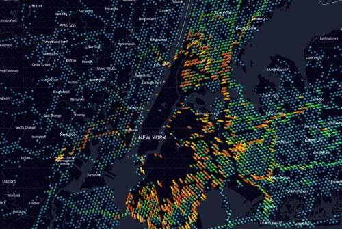 Deckgl And Reactmapgl Provide WebGL Interfaces To Create Data - React us heat map