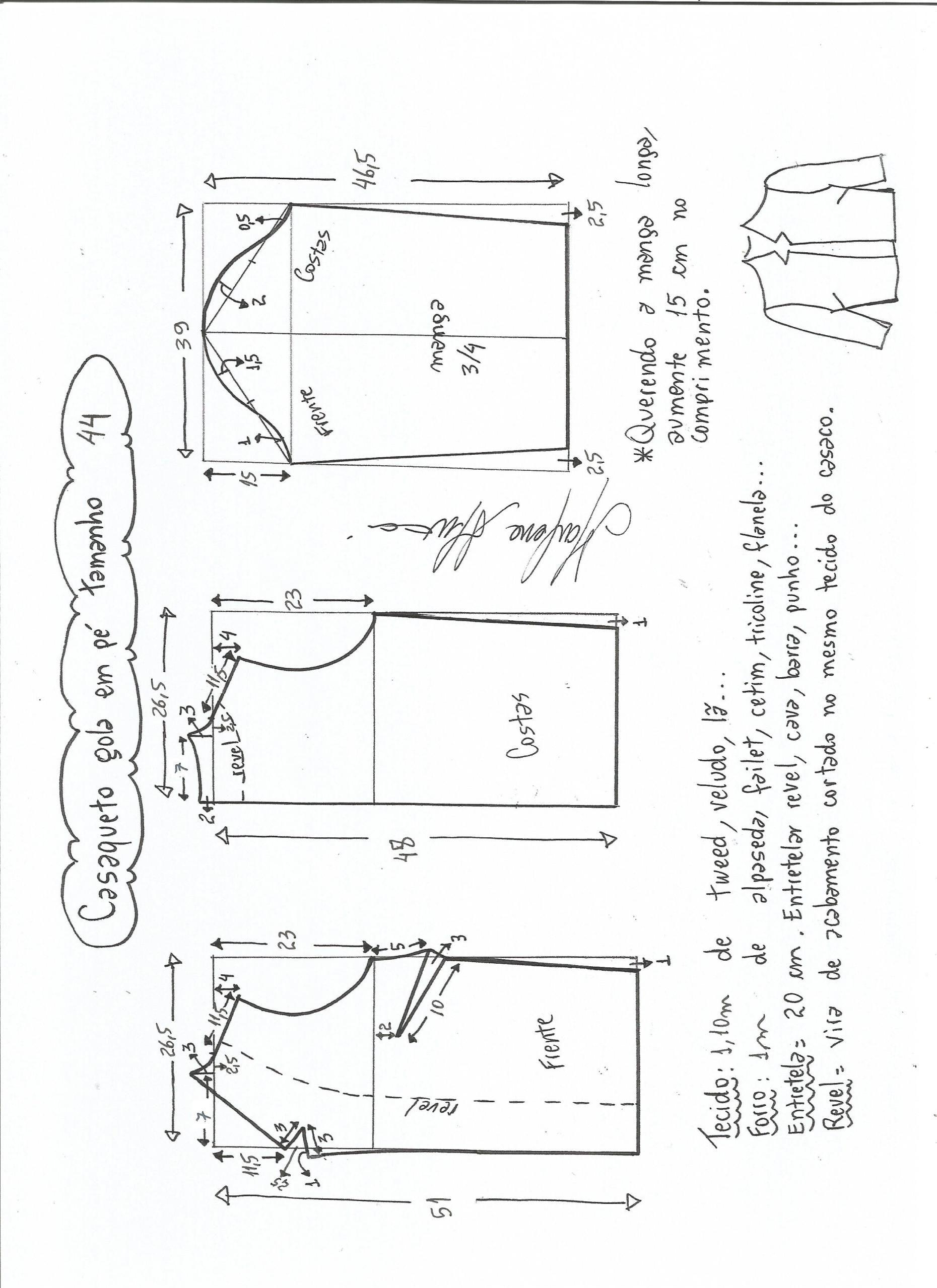 Casaqueto manga 3/4 | Patrones... | Pinterest | Costura, Vestidos y ...