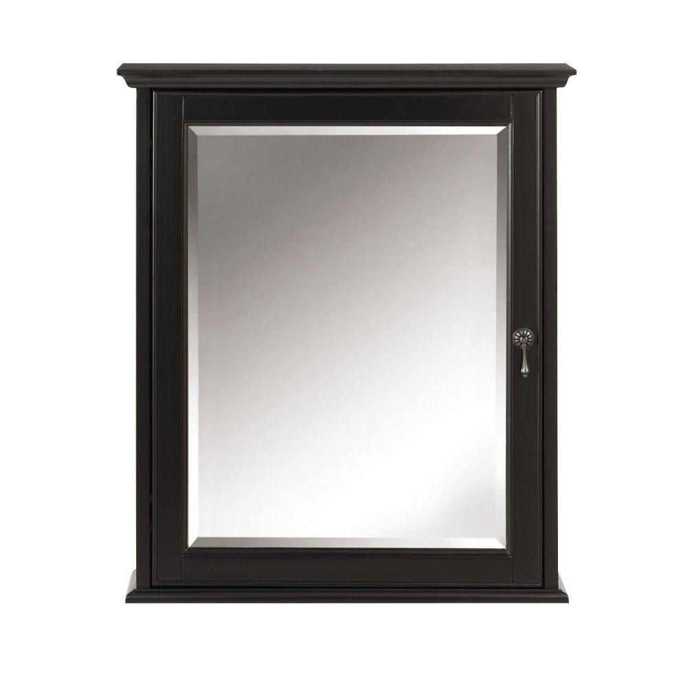 Home Decorators Collection Newport 24 in. W x 28 in. H Mirrored Wall ...