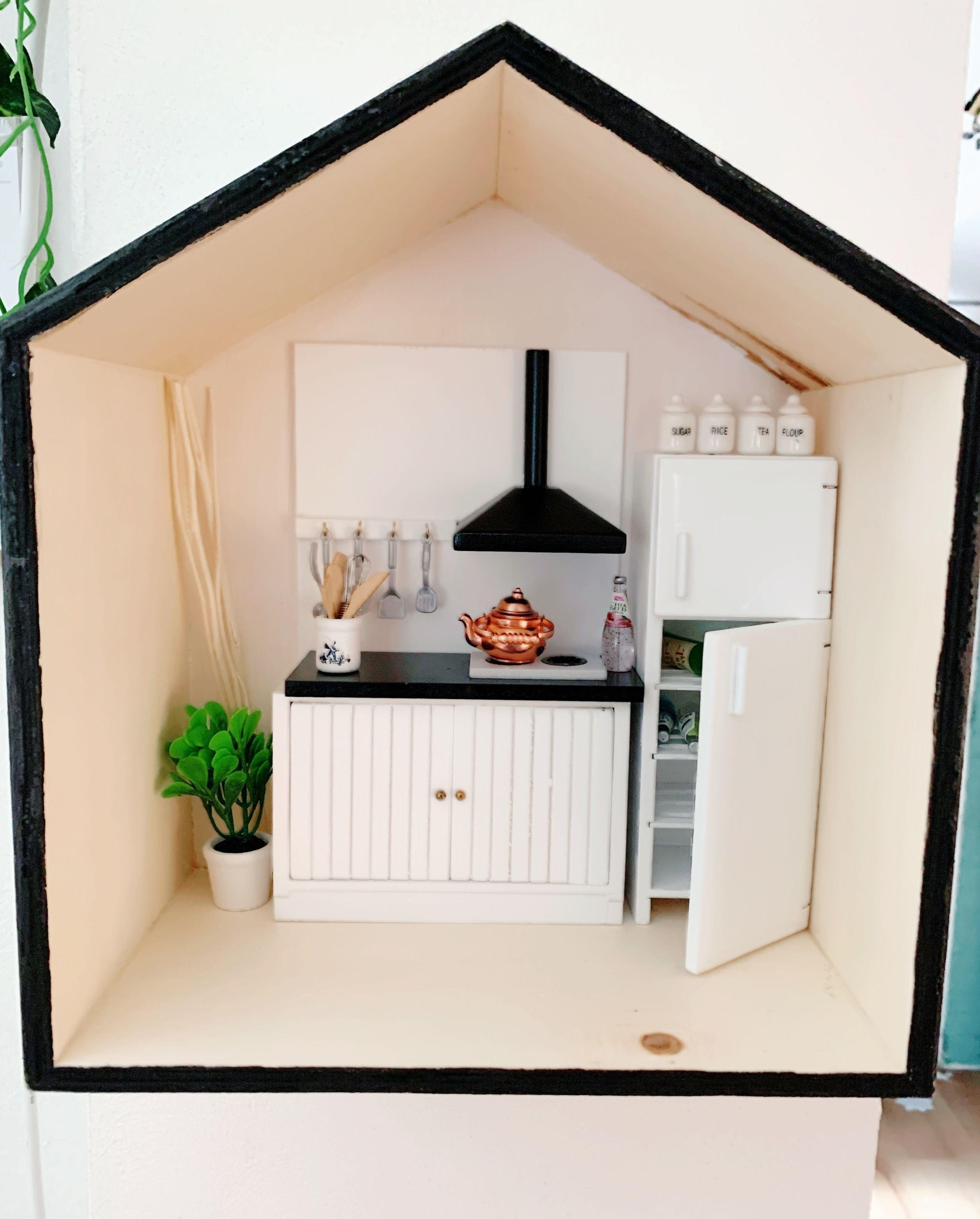 Mini Dollhouse Poppenhuis Poppenhuis Poppenhuis Meubeltjes Miniature