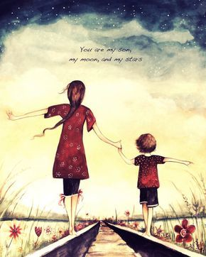 Mutter und Sohn Du bist mein Sohn mein Mond und von claudiatremblay