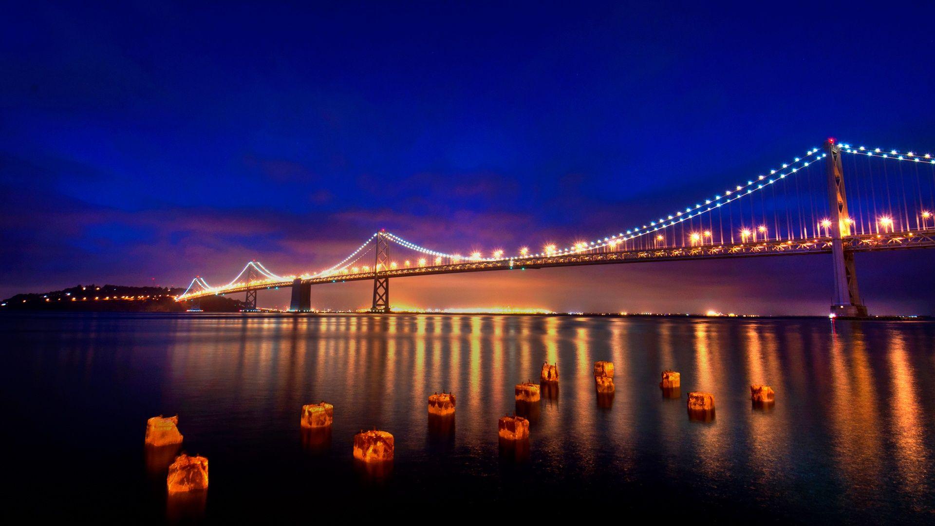 San Francisco San Francisco At Night Bay Bridge San Francisco San Francisco Wallpaper