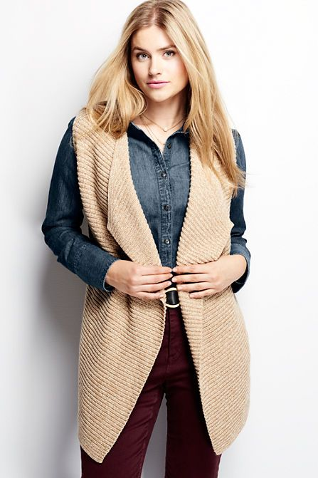 aa3ad9e2214 Women s Plus Size Lofty Shaker Sweater Vest - Fashion feels best when it  isn t complicated or difficult. The sleeveless