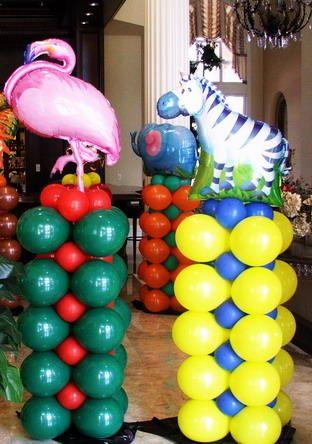 Jungle Theme Balloon Decor Pictures