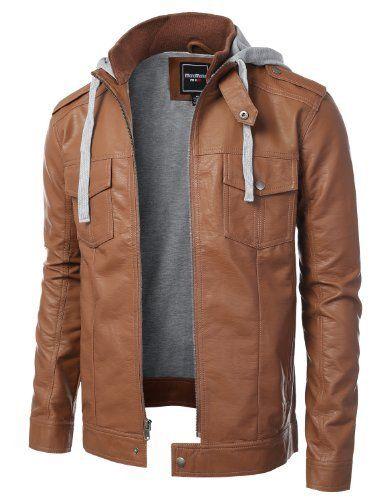 Industries Needs Dressforless Men S Faux Leather Jacket Faux Jackets Faux Leather Jackets Gray Jacket