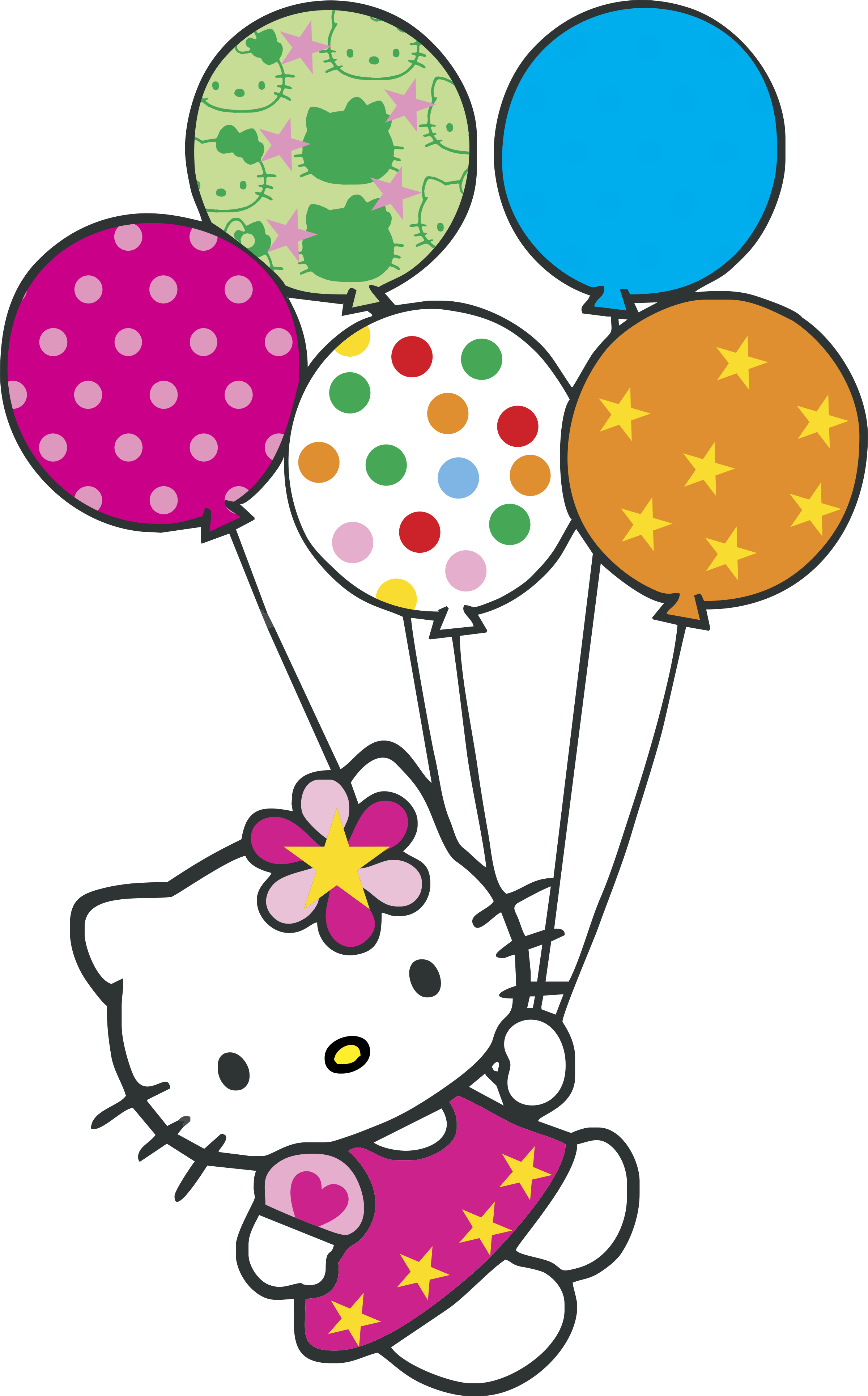 Hello Kitty Con Globitos Logo Png Transparent Svg Vector Freebie Supply Hello Kitty Crafts Hello Kitty Printables Hello Kitty Con