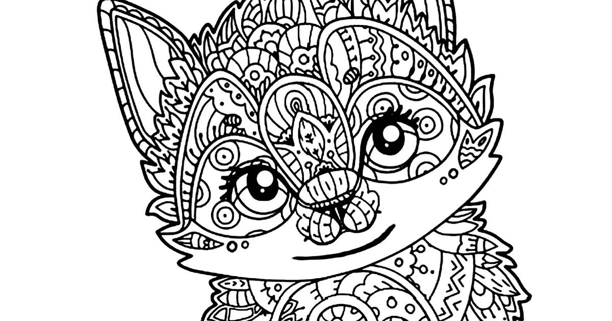Cute Animals Coloring Page