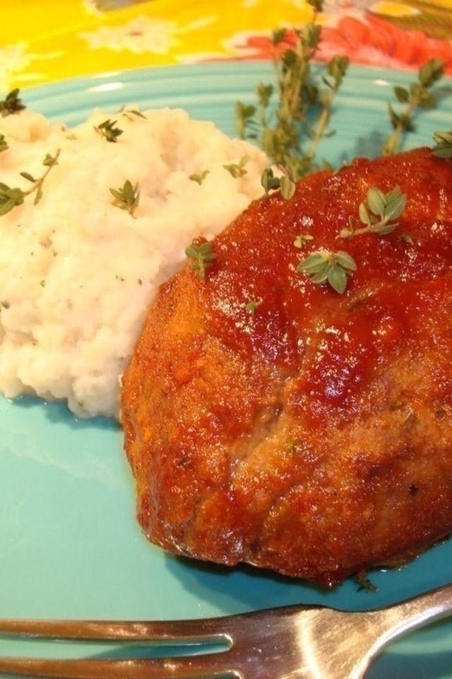 Mini Meatloaves and Garlic Mashed Cauliflower