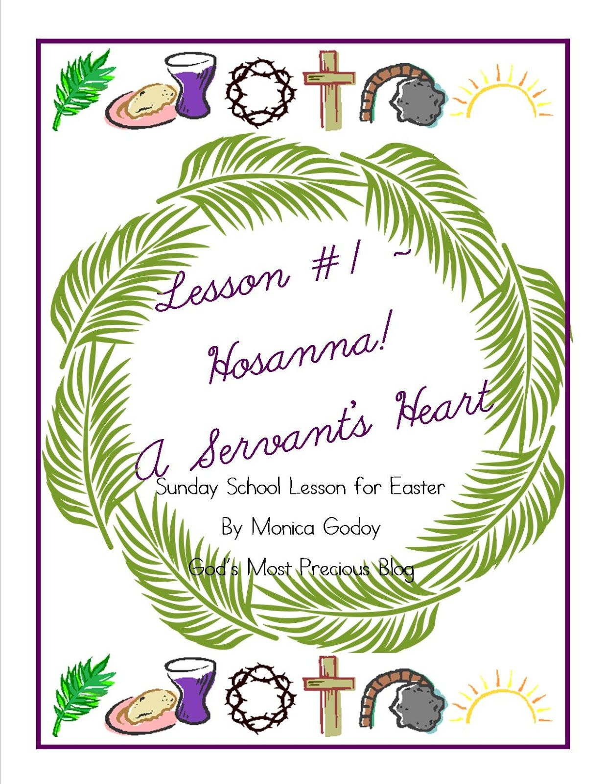 God\'s Most Precious: Easter Sunday School Lesson 1 {PRINTABLE ...