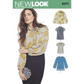 6494 MISSES/' DRESS with Sleeve variations Sewing pattern NEW LOOK Sizes 8-20