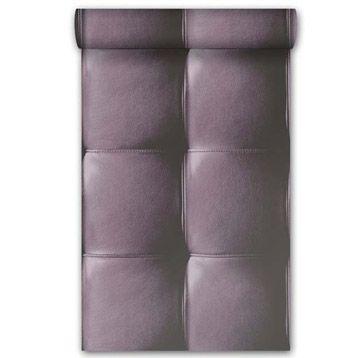 Papier peint vinyle sur intissé Cuir, violet, larg 053 m Leroy