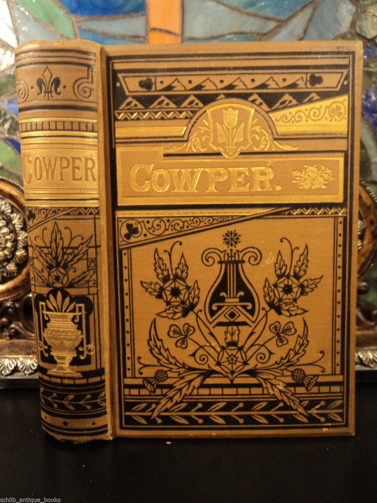 1883 English Poet Hymns of William Cowper Victorian Binding Bible Poetry   eBay