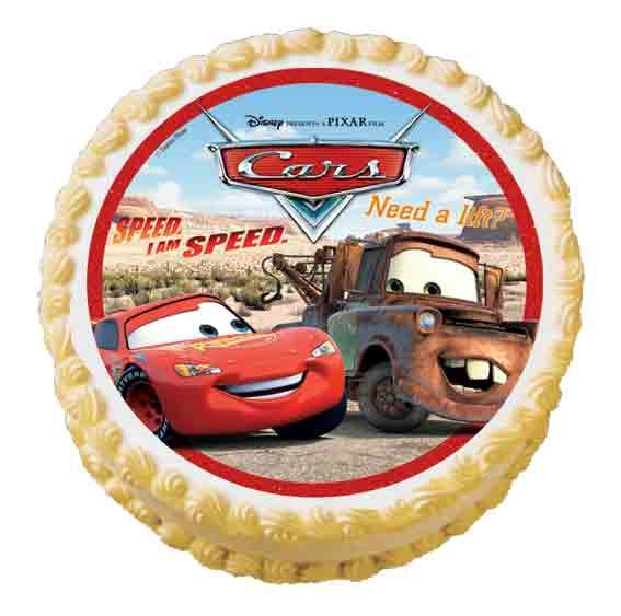 Cars With Lightning McQueen on 24 x Edible Cup Cake Cupcake Toppers Disney Pixar