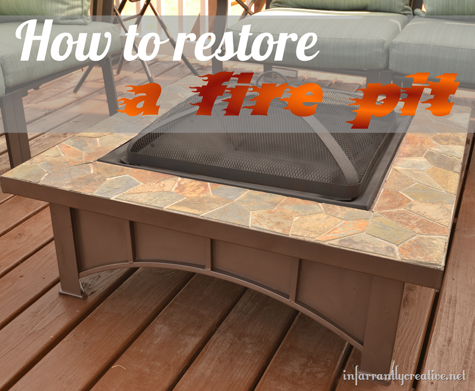 How To Restore A Fire Pit Ash Pan Infarrantly Creative Fire Pit Table Fire Table Diy Fire Pit
