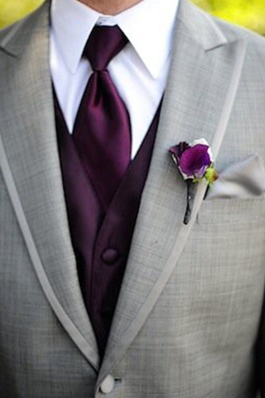 Wedding Ideas By Colour: Purple Wedding Suits And Accessories ...