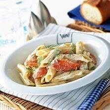 Pasta med rodkal och gorgonzola