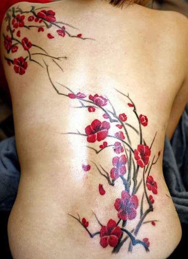 de fleurs cerisiers japonais tatouage tattoo pinterest fleur cerisier cerisier japonais. Black Bedroom Furniture Sets. Home Design Ideas