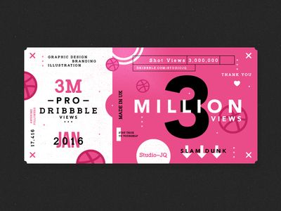 3 Million Studio, Chocolate packaging and Identity design - how to design a ticket for an event
