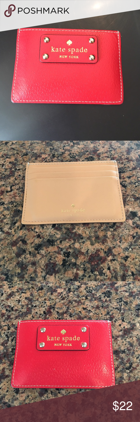 Kate Spade Card Holder Red Kate Spade Cars Holder- good condition! kate spade Bags Wallets