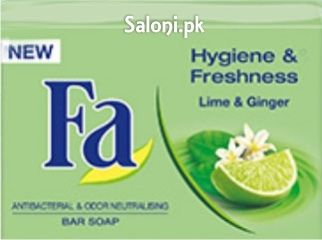 FA LIME & GINGER ANTIBACTERIAL BAR SOAP 125 GRAMS Saloni ...