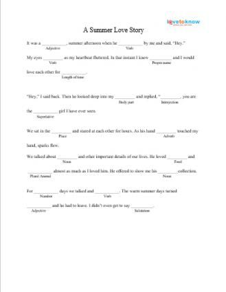 It is a graphic of Delicate Mad Libs for Middle Schoolers Printable