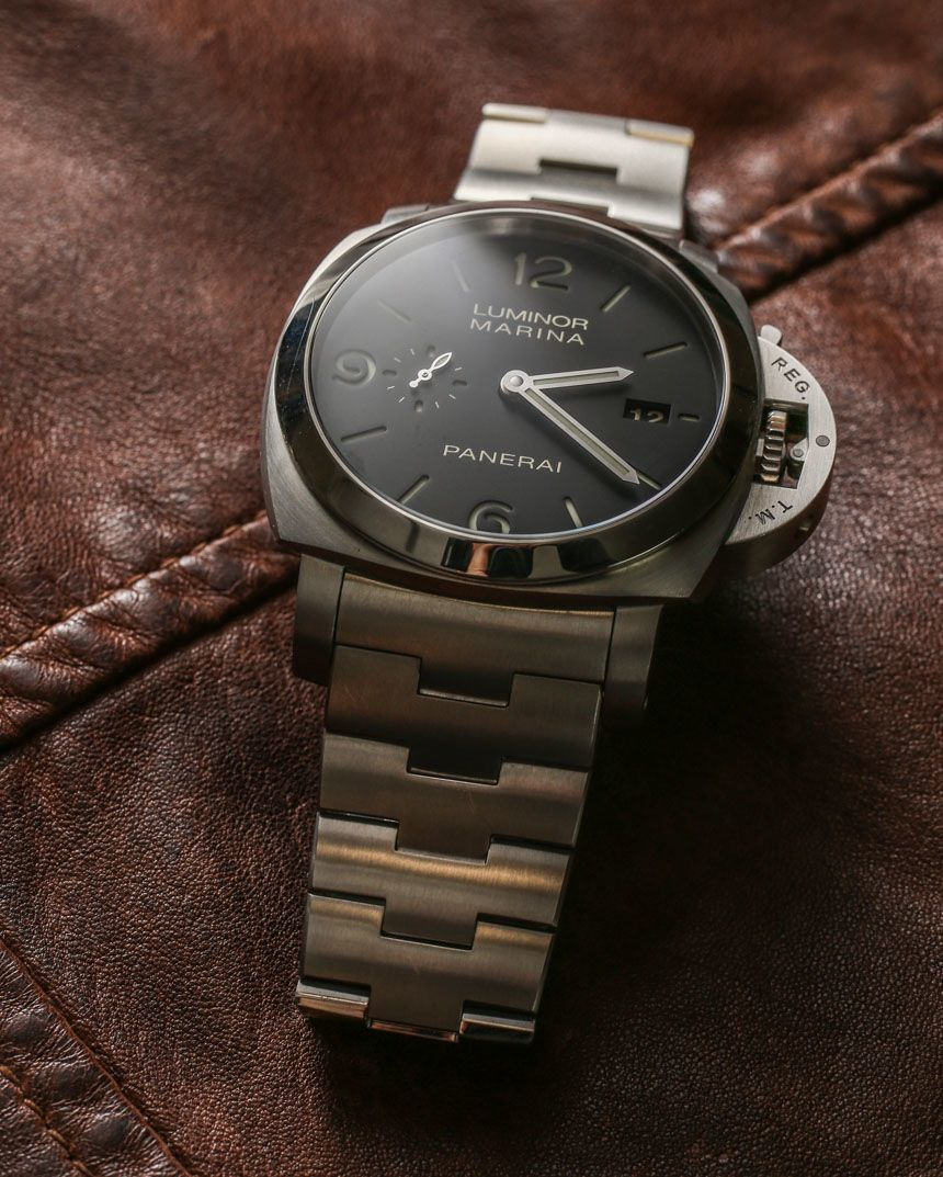 7c75e36f388 Officine Panerai Luminor Marina 1950 3 Days Automatic PAM328 On Bracelet  Watch Review - by Ariel Adams - see the full photo gallery
