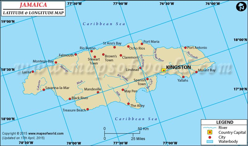 Jamaica latitude and longitude map showing comprehensive details jamaica latitude and longitude map showing comprehensive details including cities roads towns airports gumiabroncs Images