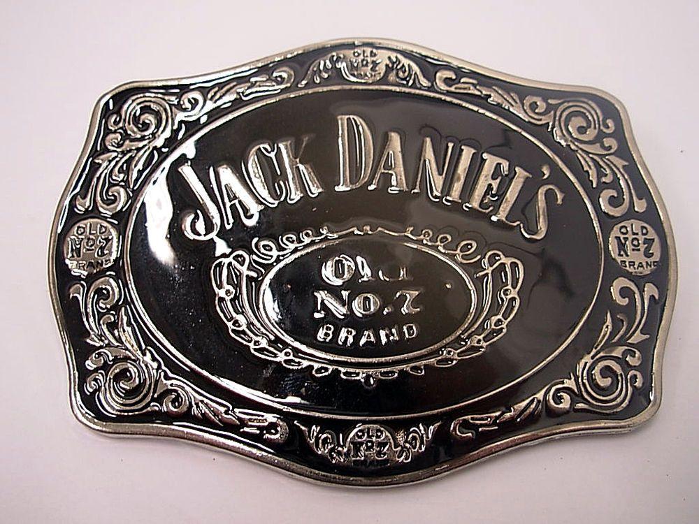Jack Daniels Swirl Belt Buckle Drinks Whiskey Belt Buckle Belts and Buckles