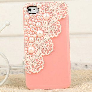 lace, pearl phone