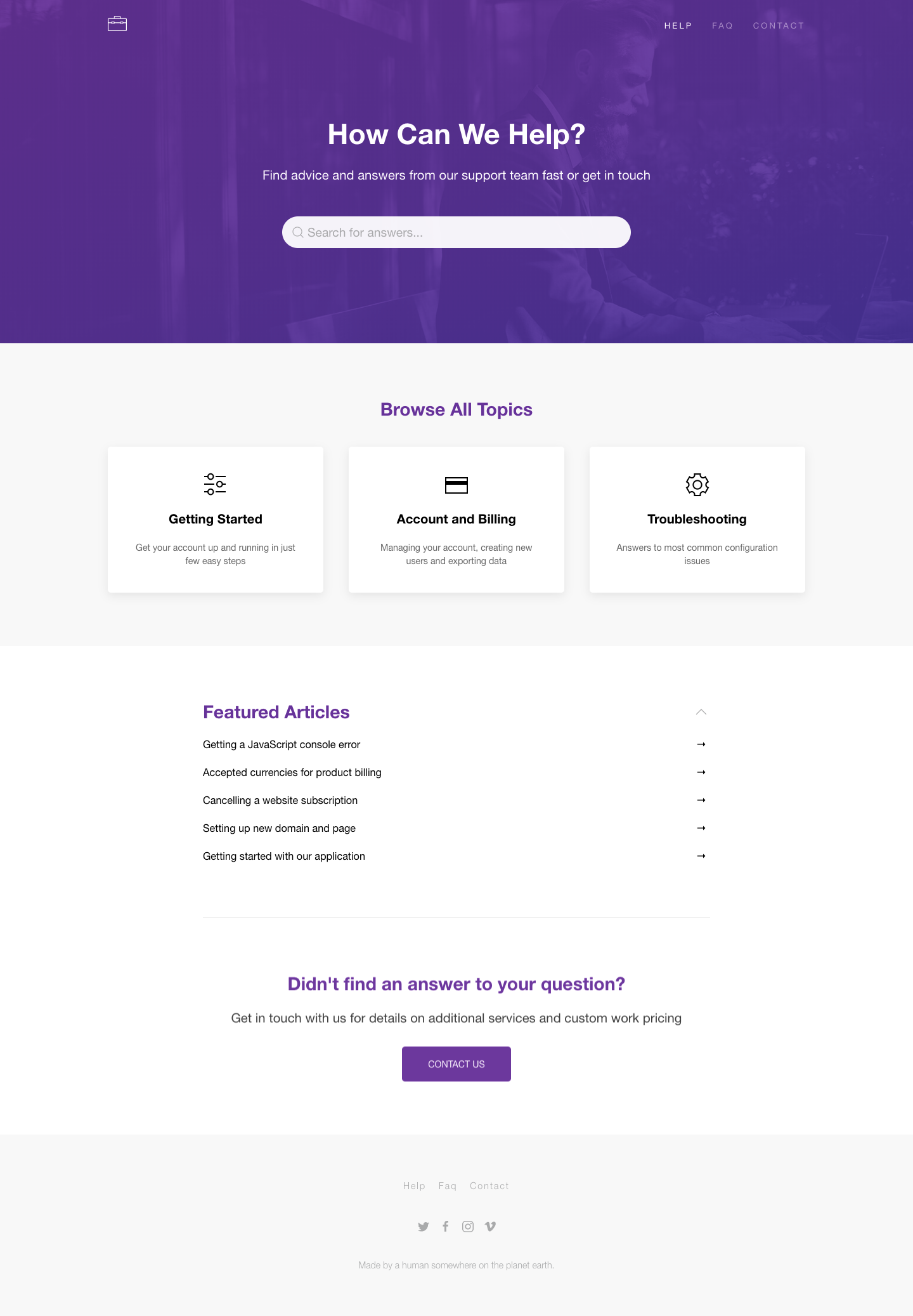 Desk - Responsive Knowledge Base & FAQ Jekyll Theme