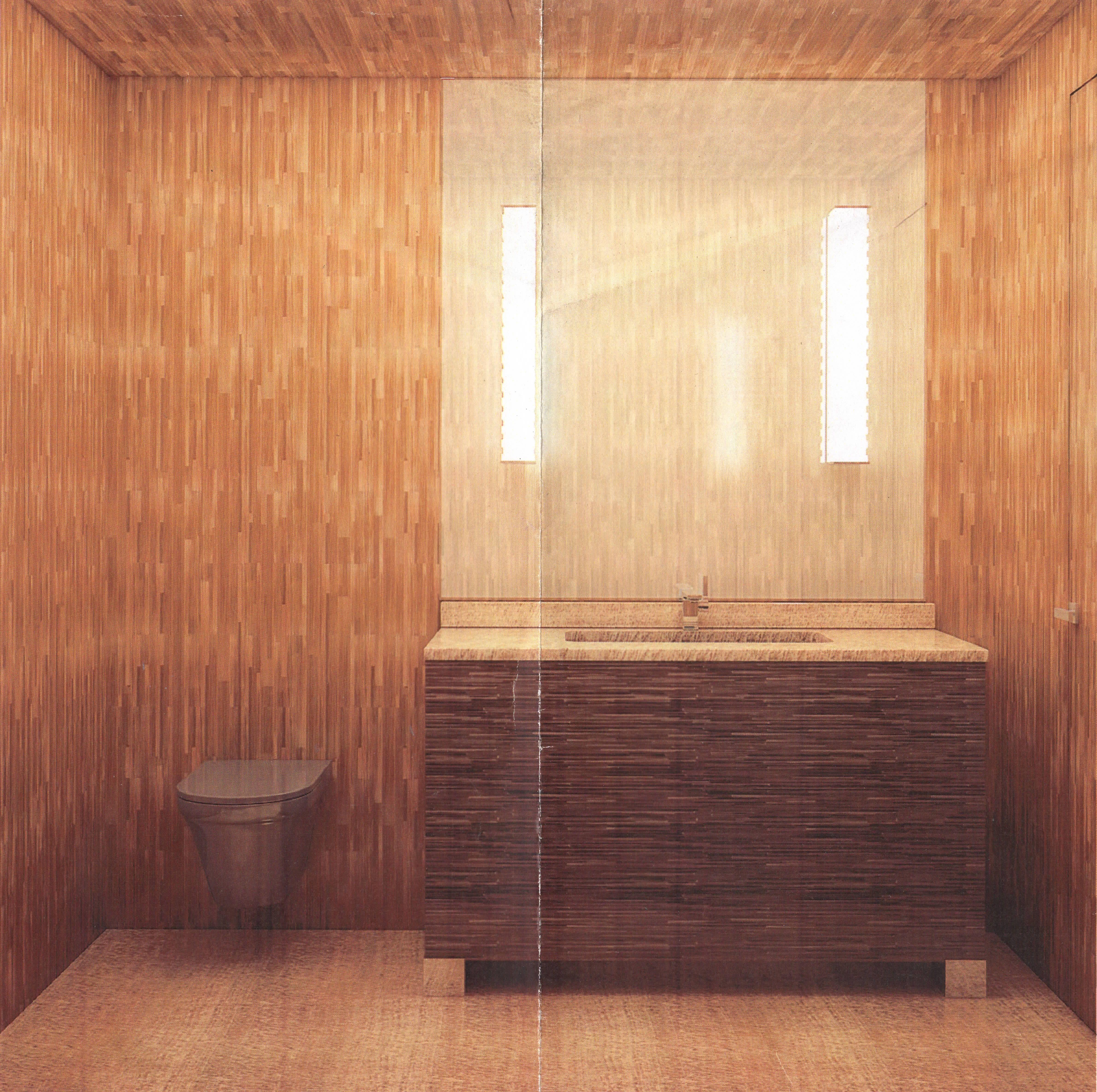 Toilettes en marqueterie de paille réalisée par Lison de Caunes ...