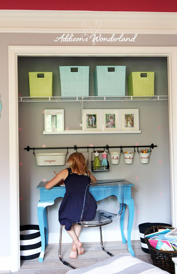 Our Extra Closet Turned Craft Center Reveal Sharing How I Took An Unused E