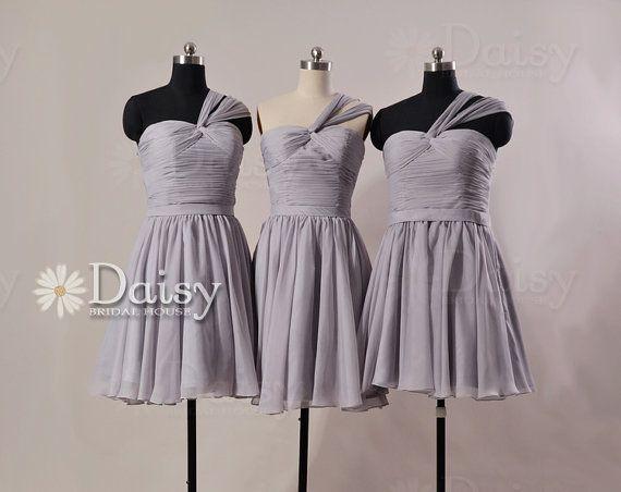 Short Grey Bridesmaid Dress Light Gray Knee Length Dress Custom Gray Bridesmai Mix Match Bridesmaids Dresses Simple Wedding Dress Short Grey Bridesmaid Dresses