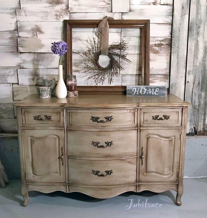 Van Dyke Brown Glazed Millstone Dresser