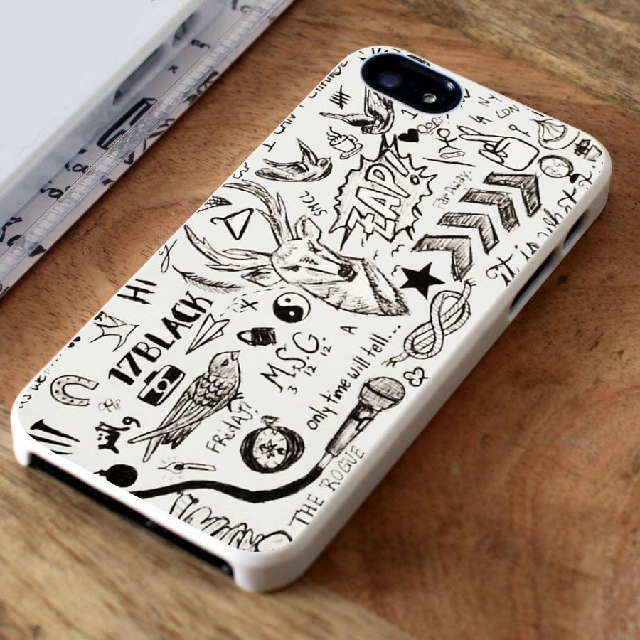 1d one direction tattoos iphone 4 case iphone 5 case